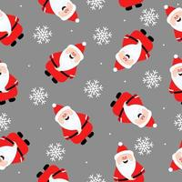 Funny Santa Claus seamless pattern. Print for winter clothes, textile and christmas design elements. vector