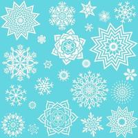 Collection different snowflakes. Element design for winter decor. vector