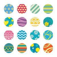 llavero con plantilla de diseño de tema de Pascua.