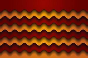 waves yellow orange vector