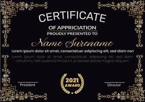 plantillas de diseño de certificado moderno vector