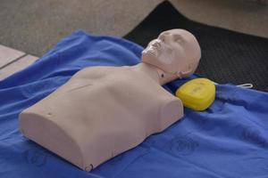 CPR dummy on cloth