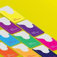 Colorful and attractive plain smartphone template for ui design mock up vector