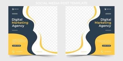Digital Marketing Agency Social Media Banner template. editable social media post for corporate. vector