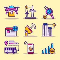 Smart City Icon Collection vector