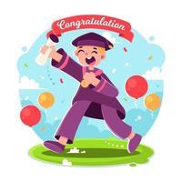 Happy People in Graduation Day vector