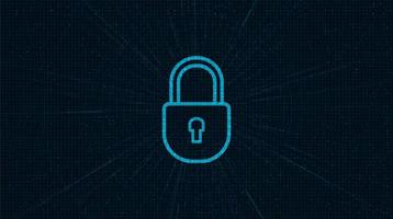Technology Lock Security, protection and Safe Concept vector