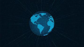 Fondo de tecnología global de red digital, diseño de concepto de conexión y comunicación vector