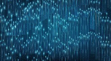 microchip de tecnología ligera en el fondo futuro vector