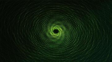 Teleport Warp Spiral Technology on Green Background, Network Concept design vector