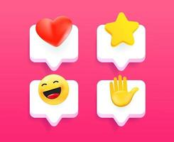 Comic style modern mobile phone message icons vector collection