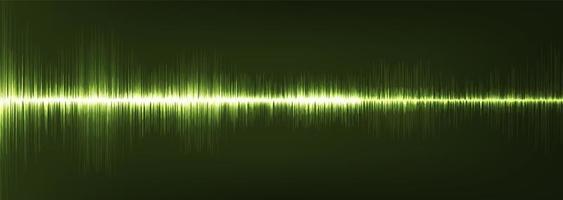 panorama verde onda de sonido digital baja y alta escala de richter vector