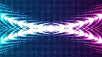 Abstract Violet and Blue Digital Sound Wave and earthquake wave concept vector