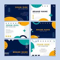 Creative Memphis Design Business Card Collection vector