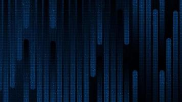 Microchip de circuito de línea de velocidad futurista sobre fondo de tecnología azul oscuro vector