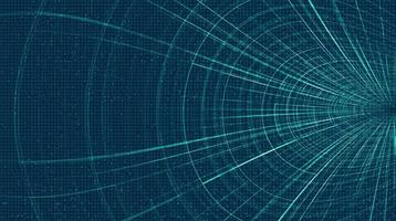 Futuristic Hyperspace speed motion on future Technology background, warp and expanding movement concept vector