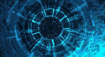 Tecnología abstracta rueda de engranajes y gallo sobre fondo de tecnología vector