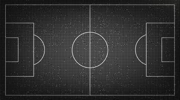 Black Football field on Digital Technology Background vector