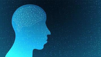 microchip cibernético sobre fondo de tecnología, diseño de concepto de alta tecnología y seguridad vector