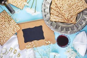 Pesach celebration concept, Jewish Passover holiday photo