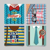 Happy Father's Day Greeting Cards vector