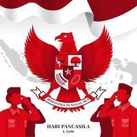 Pancasila Day Ceremony vector