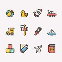 Set of Children Icon For Kindergarten vector