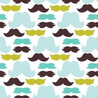 Mustaches seamless pattern vector illustration. Male facial bread fashion barber silhouette.