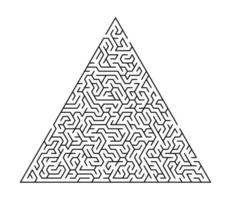 Maze game for homeschooling kids. Maze puzzle task. Home leisure riddle shape, search right path. vector