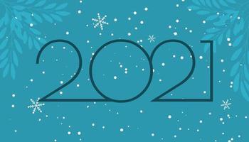 Winter 2021 numbers vector