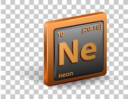 elemento químico de neón vector