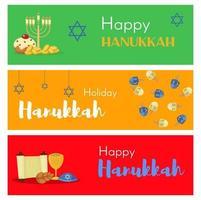 Judaism church traditional banner jewish hanukkah vector