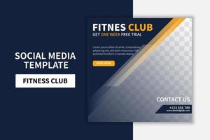 Creative Gym and Fitness social media post template banner design. Banner promotion. online advertising vector