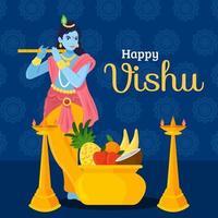 Vishu Celebration Concept vector