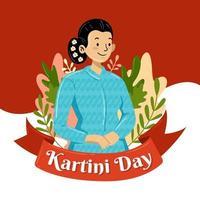 Kartini Day Concept vector