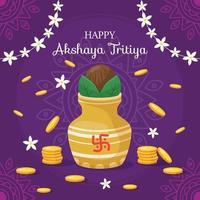 feliz festival akshaya tritiya vector