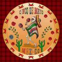 illustration 3 design on the Mexican theme of Cinco de mayo celebration vector