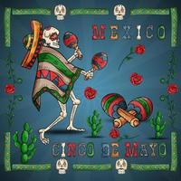 illustration 23 design on the Mexican theme of Cinco de mayo celebration vector