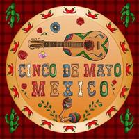 illustration design on the Mexican theme of Cinco de mayo celebration vector