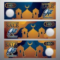 Ramadhan Sale Gift Voucher vector