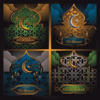 Ramadhan Kareem Card vector