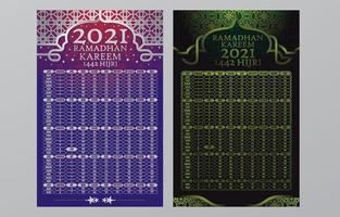 plantilla de horario de oración de eid vector