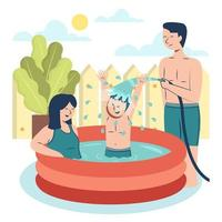 Play Water when Summer Comes vector