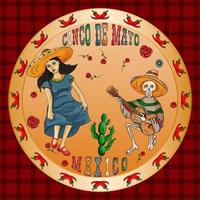 illustration design of the Mexican theme of Cinco de mayo celebration vector