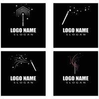 Wand magic Logo Template vector symbol design