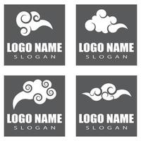 Chinese clouds Logo Template vector