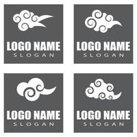 Chinese clouds Logo Template vector symbol design