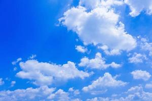 White fluffy clouds photo