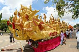 Ubon Ratchathani, Thailand, 2021 - Candle Wax Festival photo