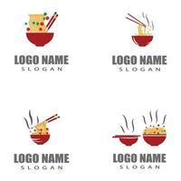 Noodles Logo Template vector symbol design